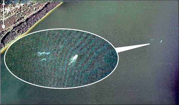 Google Earth captured this photo of Nessie from space.