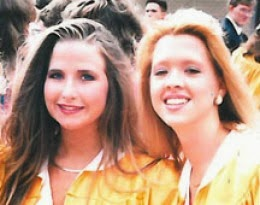 McCall and Streeter at their high-school graduation.