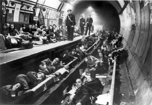 The Bethnal Green Station Shelter during World War II