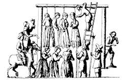 Women hung for witchcraft in England