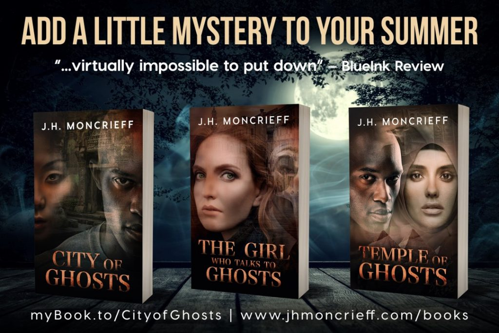 Escape to China, Italy, and Egypt with the GhostWriters series. www.jhmoncrieff.com/books