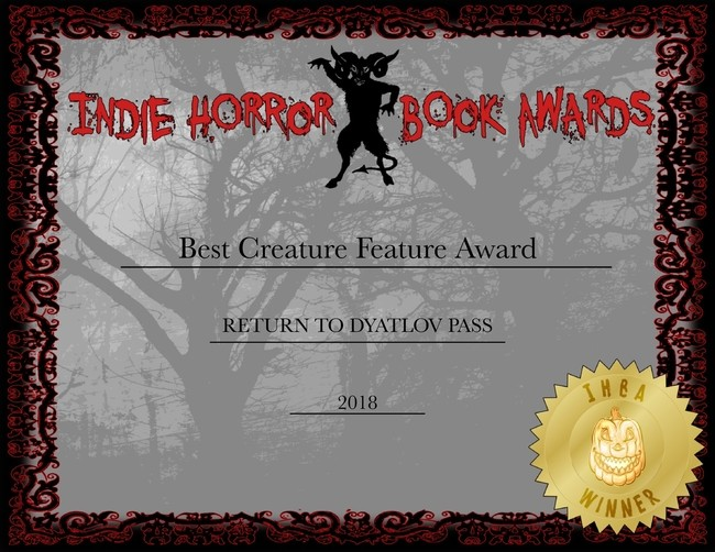 Return to Dyatlov Pass by J.H. Moncrieff wins Indie Horror Award